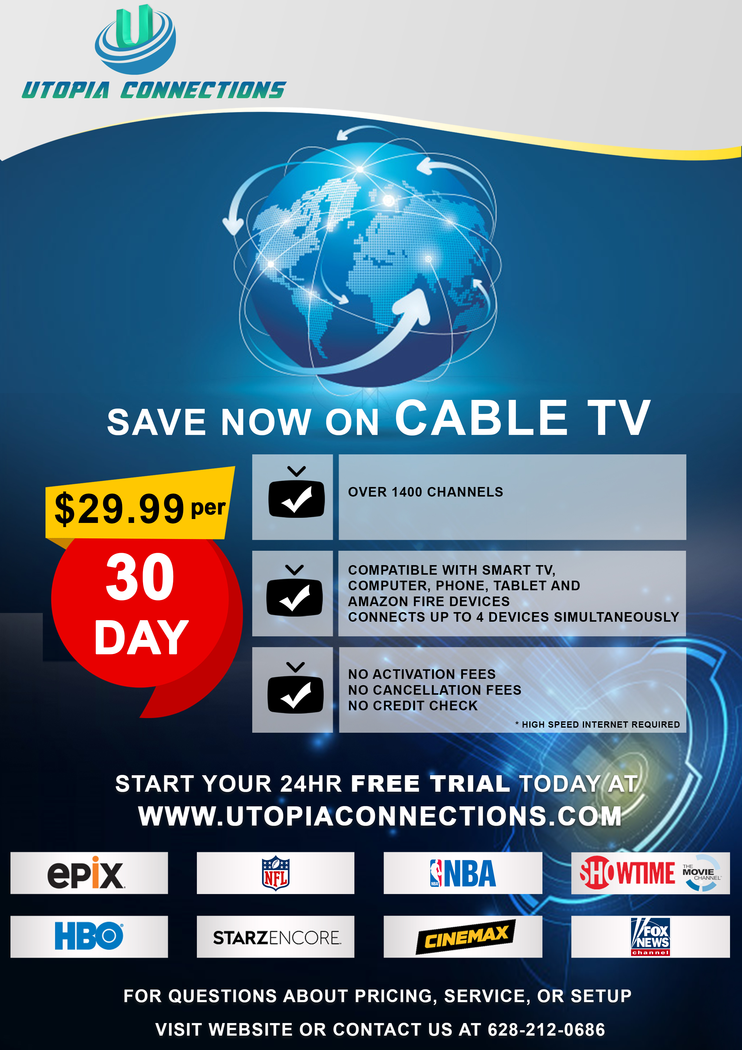 Utopia Connections: Get Unlimited High-Quality Streaming Channels